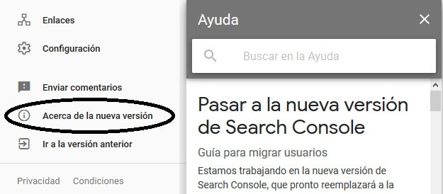 tutorial search console ayuda