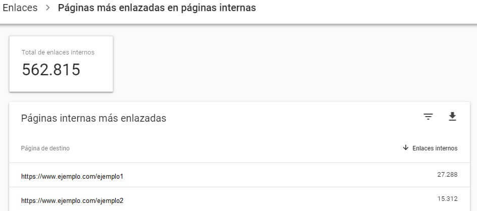 tutorial search console informe enlaces internos