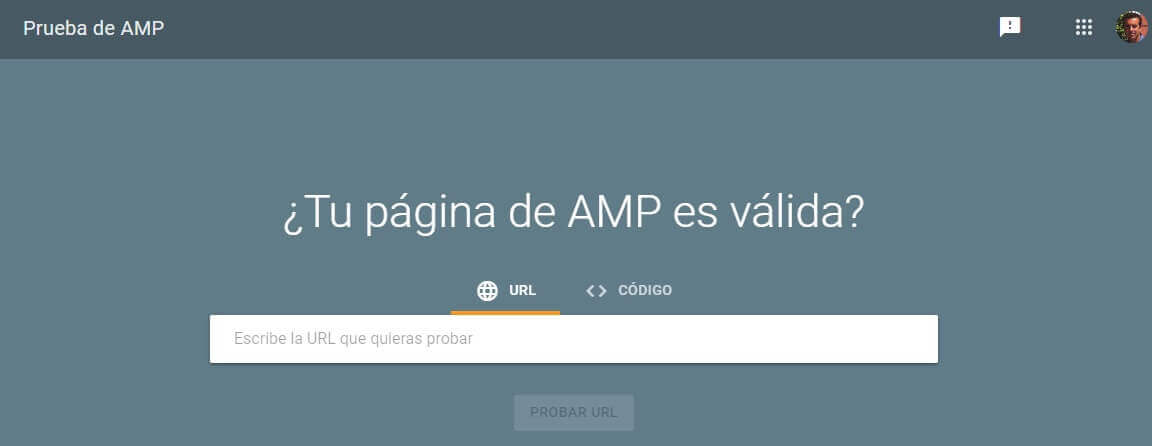 tutorial search console prueba amp